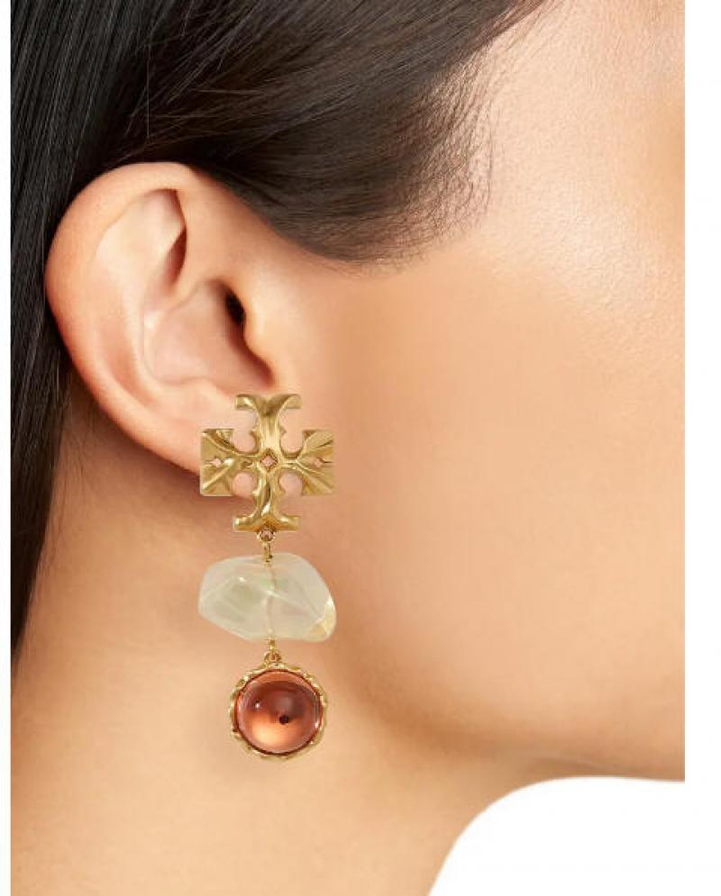 ihocon: TORY BURCH Roxanne Double Drop Clip-On Earrings 夾式耳環