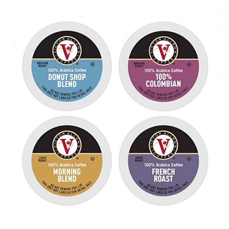 ihocon: Donut Shop, Morning Blend, 100% Colombian, and French Roast Variety Pack for K-Cup, Keurig 2.0 Brewers, 96 Count 咖啡膠囊