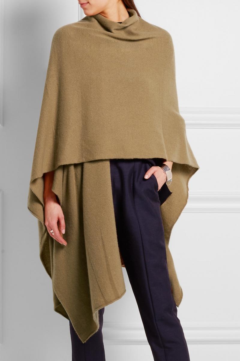 ihocon: 100% Pure Cashmere Ruana Shawl 羊絨披肩-3色可選