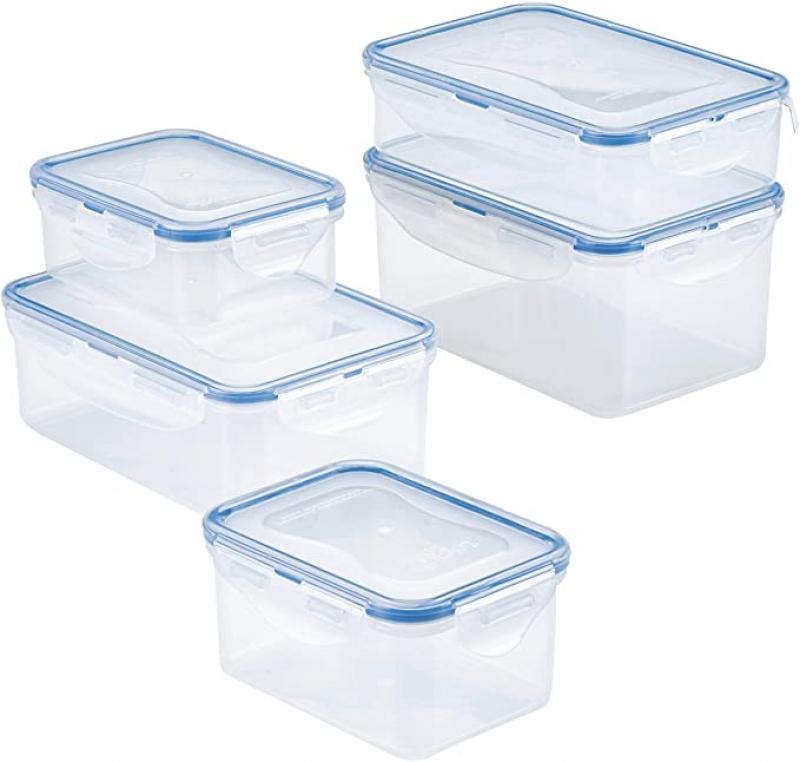 ihocon: LOCK & LOCK Easy Essentials Food Storage lids/Airtight containers, BPA Free, 10 Piece 保鮮盒