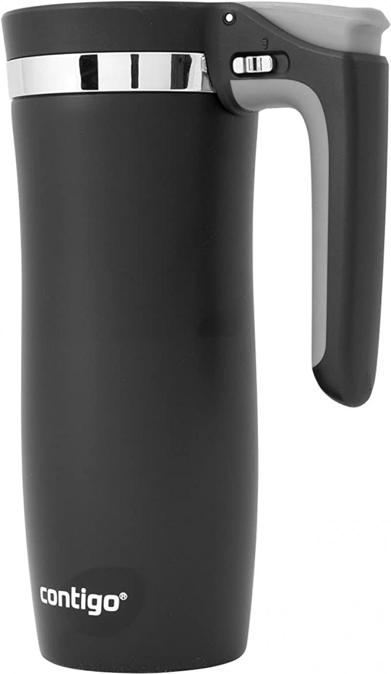 ihocon: Contigo Handled AUTOSEAL Travel Mug, 16 oz 不銹鋼保温杯