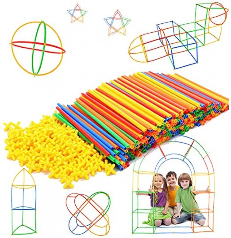 ihocon: [啓發創造力] Straw Constructor STEM Building Toys 300 pcs Interlocking Plastic-Educational Toys 益智組合玩具