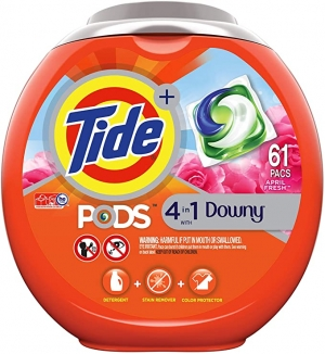 ihocon: Tide PODS Plus Downy 4 in 1 HE Turbo Laundry Detergent Pacs, 61 Count 洗衣膠囊