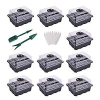 ihocon: YSBER 10-Pack Seed Starter Tray Kit 含蓋育苗盆10個及小工具