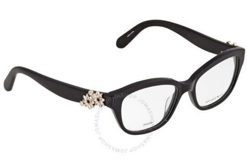 ihocon: Kate Spade Ladies Black Rectangular Eyeglass Frames Amelina08070051 女士眼鏡鏡框