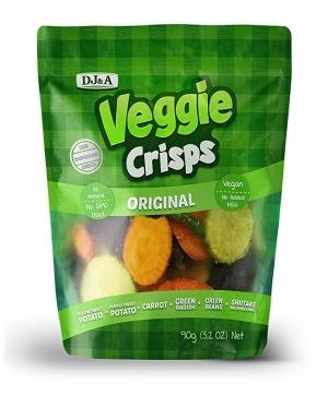 ihocon: DJ&A VEGGIE CRISPS 3.2oz/90g x 4-Pack Box 蔬菜脆片