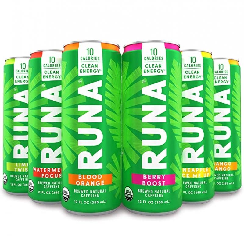 ihocon: RUNA Organic Clean Energy Drink, Refreshing Tea Taste, 12 Oz (Pack of 6)有機能量飲料