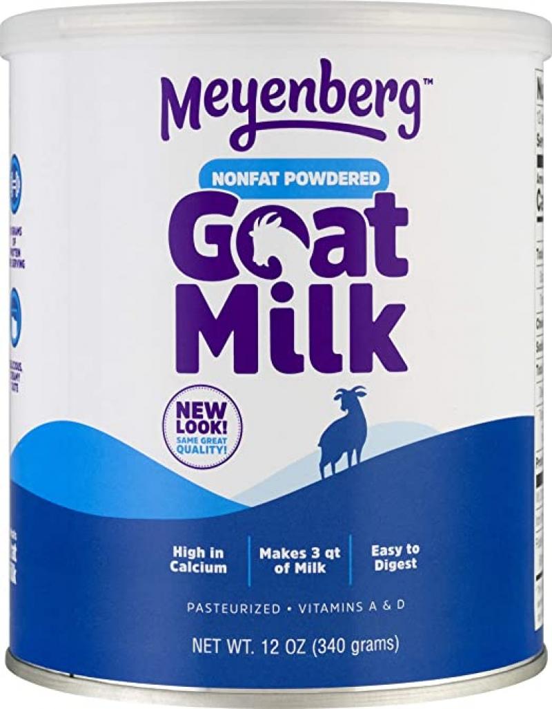 ihocon: Meyenberg Nonfat Powdered Goat Milk, 12 oz, Vitamins A & D, Gluten Free, Soy Free 脫脂山羊奶粉