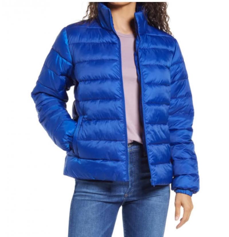 ihocon: NORDSTROM Zip Puffer Coat 女士夾克-多色可選