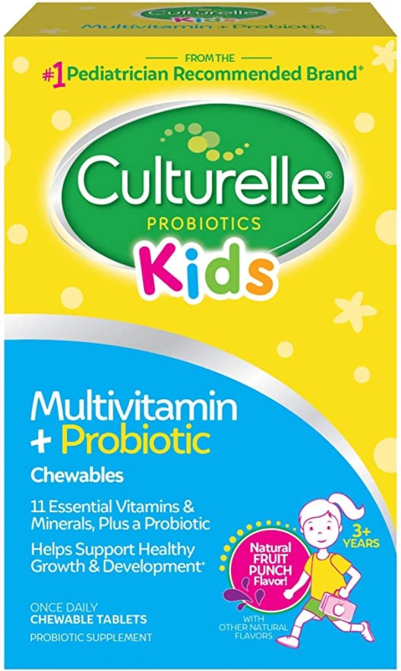 ihocon: Culturelle Kids Complete Multivitamin + Probiotic Chewable, 50 Count兒童綜合維他命+益生菌嚼片