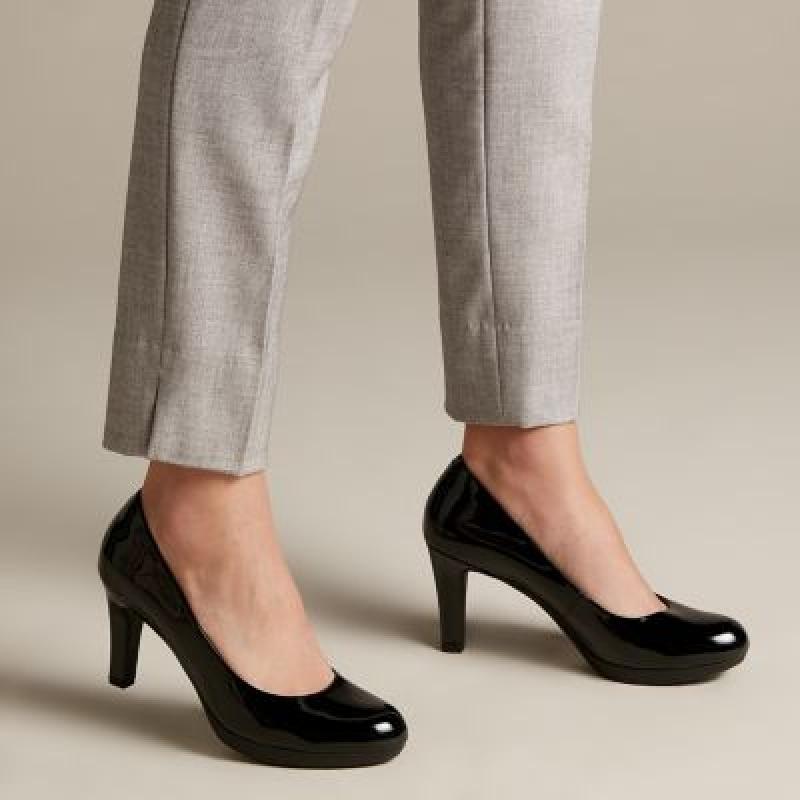 ihocon: Clarks Adriel ViolaBlack Patent 女士高跟鞋-多色可選