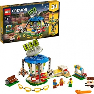 ihocon: 樂高積木LEGO Creator 3 in 1 Fairground Carousel 31095 Building Kit (595 Pieces) 旋轉木馬