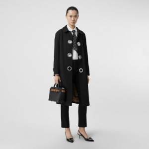 ihocon: Burberry Grommet Detail Wool Gabardine Car Coat 純羊毛外套
