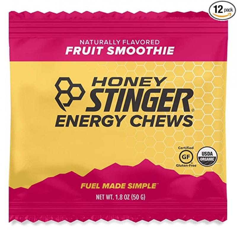 ihocon: Honey Stinger Organic Energy Chews, Fruit Smoothie, Sports Nutrition, 1.8 Ounce (Pack of 12) 有機能量軟糖
