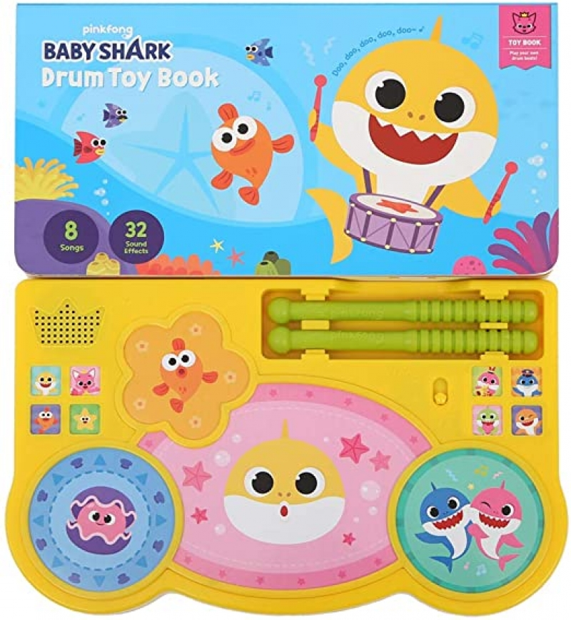 Pinkfong Baby Shark Drum Toy Book 幼兒打鼓玩具書 $11.75(原價$34.99)