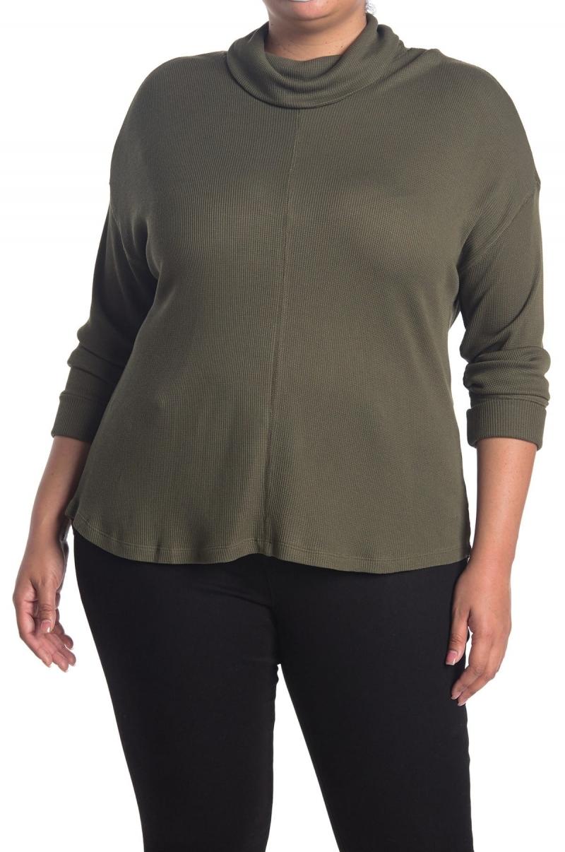 ihocon: Sanctuary Cowl Neck Waffle Knit Sweater 大尺碼女士高領衫