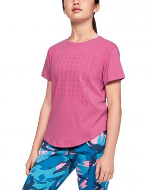 ihocon: Under Armour Girls' Repeat Short-Sleeve T-Shirt女童短袖衫