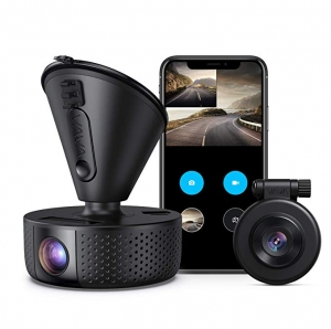 ihocon: VAVA VA-VD002 Dual 1920x1080p Full HD Front and Rear Dash Camera with Wi-Fi, Night Vision, Parking Mode, G-Sensor, WDR, Loop Recording 雙行車記錄儀,雙19201080 雙鏡頭行車記錄器