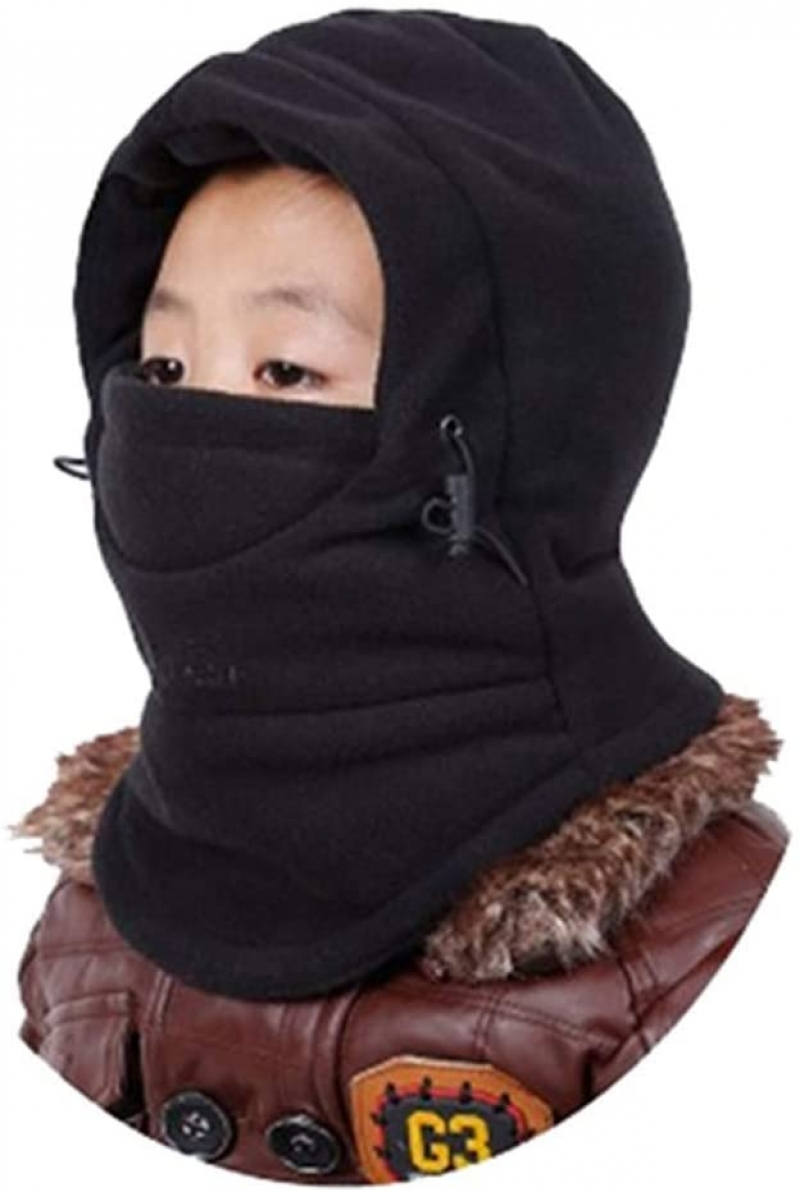 ihocon: YR.Lover Children's Double-Deck Winter Windproof Cap Thick Warm Face Cover 兒童防風保暖頭罩