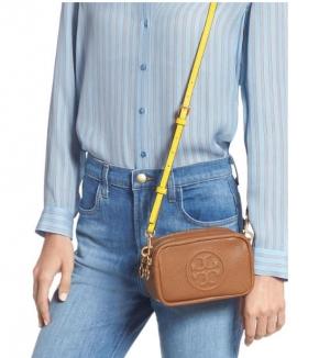 ihocon: TORY BURCH Perry Bombe Leather Crossbody Bag 皮包