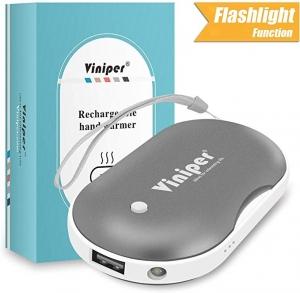 ihocon: Viniper Rechargeable 5200mAh Power Bank & Hand Warmer with Mini Flashlight Function 充電式暖手爐-多色可選