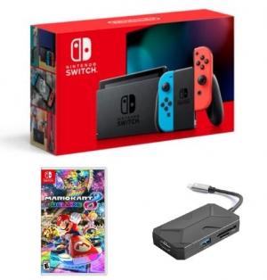 ihocon: Nintendo Switch 32GB 主機 (2019最新款) + 自選1個Nintendo Switch遊戲 + 自選1個配件
