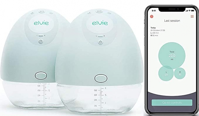 ihocon: Elvie Pump Double Silent Wearable Breast Pump with App 便攜式吸奶器