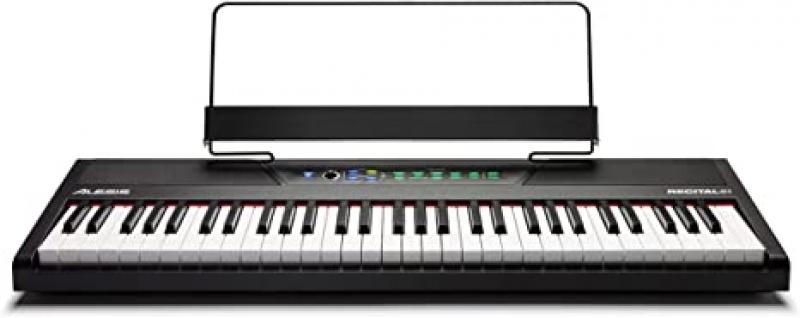 ihocon: Alesis Recital 61 - 61-Key Digital Piano / Electric Keyboard with Built-In Speakers, Semi Weighted Keys 電子琴