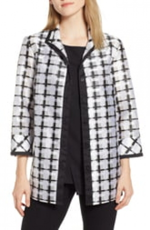 ihocon: MING WANG Windowpane Check Jacket女士夾克