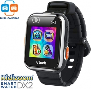 ihocon: VTech KidiZoom Smartwatch DX2 Black (Amazon Exclusive) 兒童智能錶