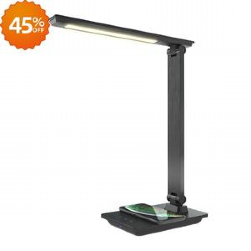 ihocon: TaoTronics Desk Lamp 57 5W LED Desk Lamp with Wireless Charging 桌燈, 內建無線手機充電