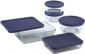 ihocon: Pyrex Simply Store Meal Prep Glass Food Storage Containers (10-Piece)玻璃保鮮盒