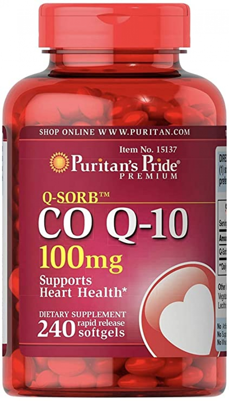 ihocon: Puritan's Pride CoQ10 100mg,240 Rapid Release Softgels