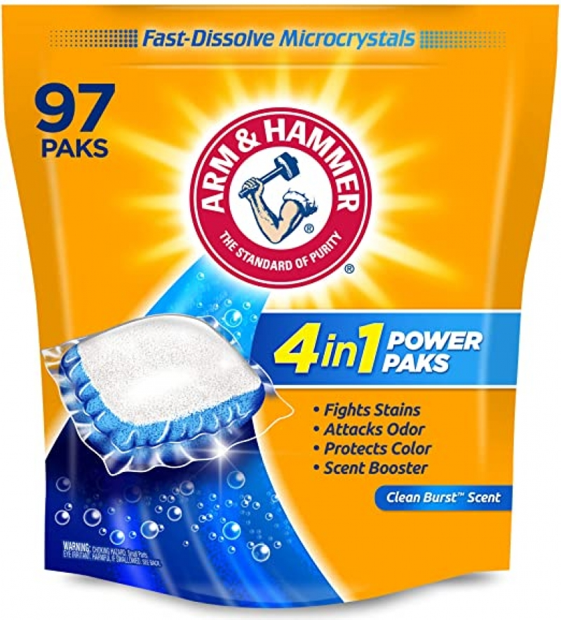 ihocon: Arm & hammer 4-in-1 Laundry Detergent Power Paks, 97 Count 洗衣劑