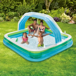 ihocon: Summer Waves Square Inflatable Family Swimming Pool 充氣泳池