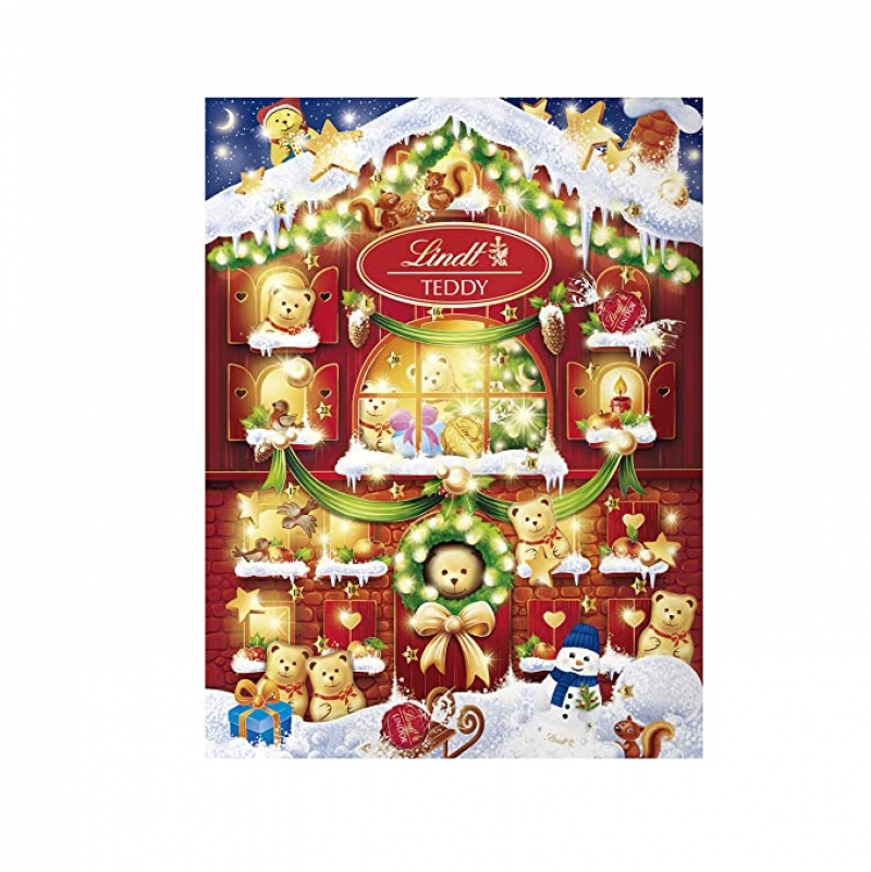 ihocon: Lindt 2020 Holiday Teddy Bear Advent Calendar 巧克力聖誕倒數月曆