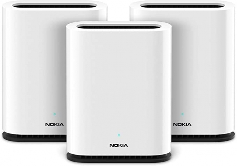 ihocon: Nokia WiFi Beacon 1: High Performance AC1200 Whole Home WiFi Mesh System Trio (3-Pack) 家庭網路系統