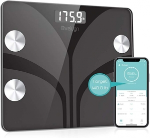 ihocon: Bveiugn Smart Wireless Body Fat Scale智能體脂體重秤