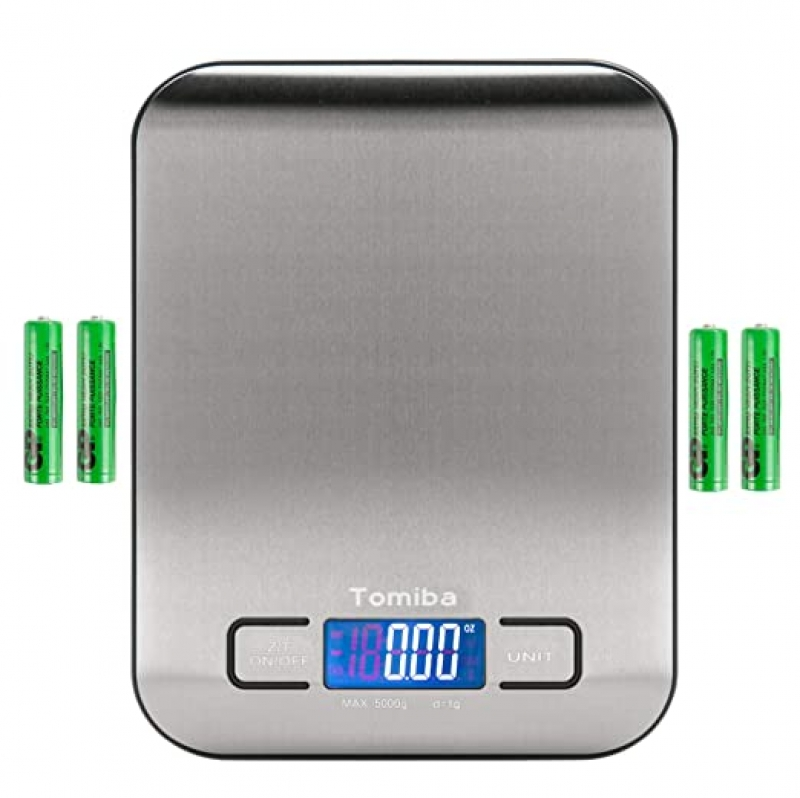 ihocon: TOMIBA Digital Kitchen Food Scale 不銹鋼廚用電子秤