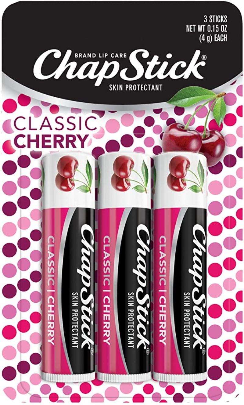 ihocon: ChapStick櫻桃口味潤唇膏3個