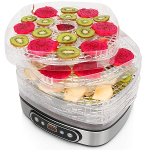ihocon: Cusimax 5 Trays Electric Food Dehydrator with Adjustable Temperature and Timer (Black) 五層食物脫水機/乾燥機