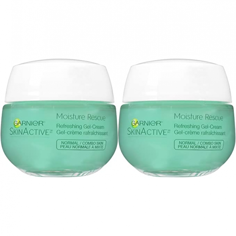 ihocon: Garnier SkinActive Moisture Rescue Face Moisturizer, Normal/Combo, 1.7 Ounce (Pack of 2) 卡尼爾保濕霜