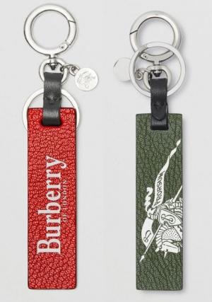 ihocon: Logo Print Leather Key Ring 皮革鑰匙圈- 2色可選