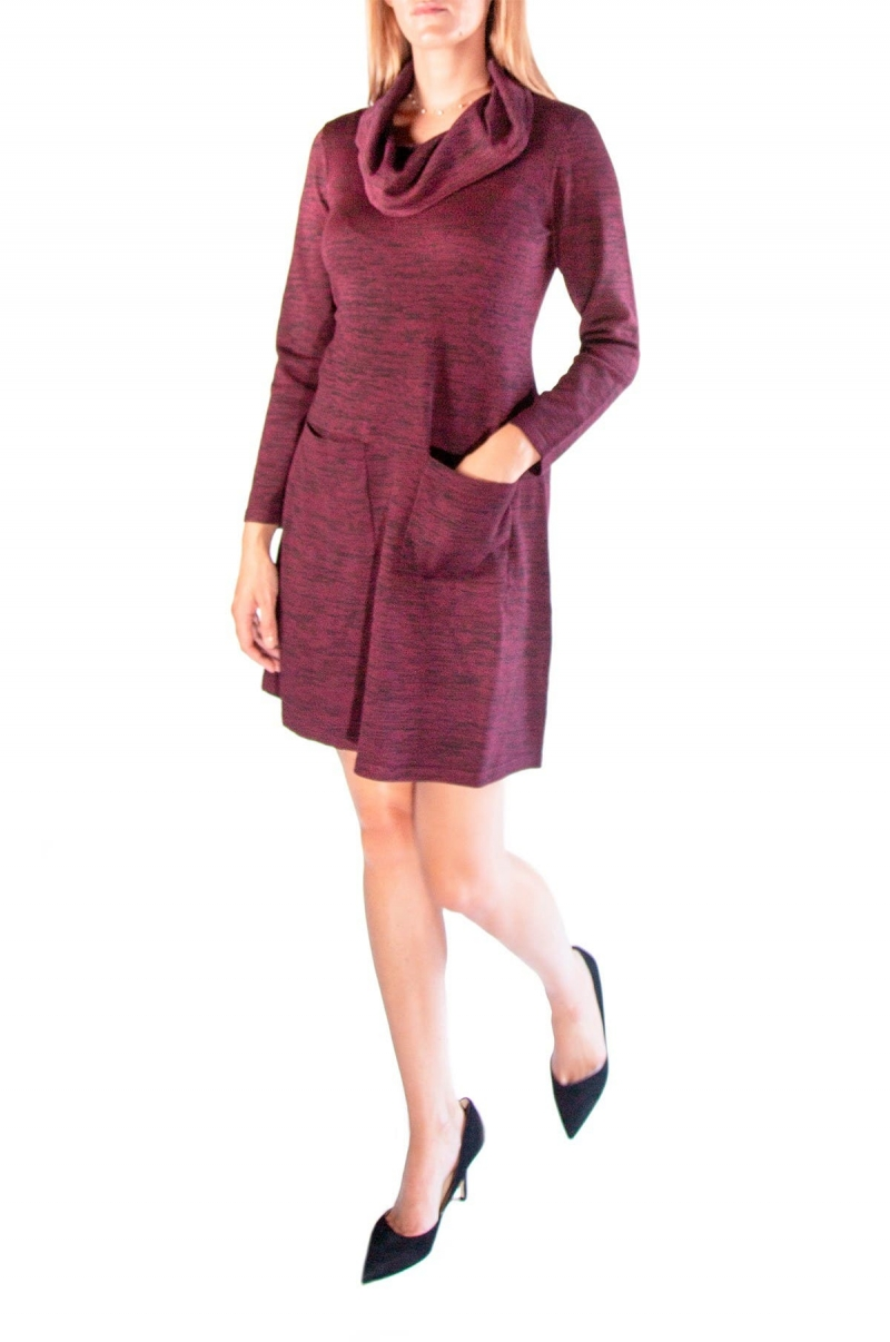 ihocon: Nina Leonard Cowl Neck Pocket Sweater Dress  女士洋裝