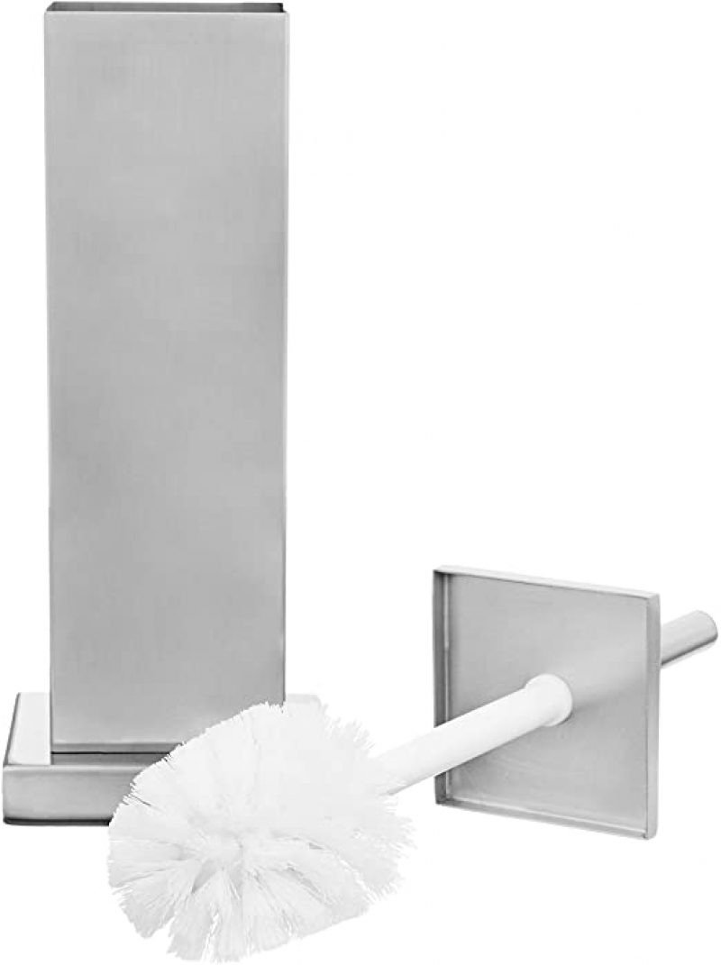 ihocon: AmazonBasics Bathroom Accessory Collection Classic Square Toilet Brush Holder, Small 馬桶刷