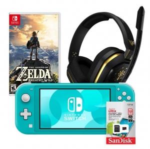 ihocon: Nintendo Switch Lite Turquoise Zelda Fan System Bundle