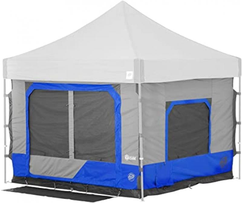 ihocon: E-Z UP Camping Cube 6.4, Converts 10' Straight Leg Canopy into Camping Tent 快速搭建遮陽帳(可轉換成露營帳篷)