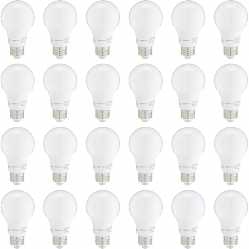 ihocon: Amazon Basics 60W Equivalent, 3000K White, Non-Dimmable, 10,000 Hour Lifetime, A19 LED Light Bulb | 24-Pack 燈泡
