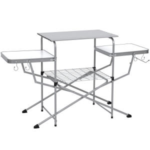 ihocon: Best Choice Products Portable Folding Grilling Table w/ Carrying Case 折疊式燒烤桌