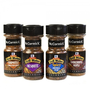 ihocon: McCormick Grill Mates Spices (Chipotle & Roasted Garlic, Mesquete, Spicy Montreal Steak, Chipotle Maple), 4 Count 烤肉調味料